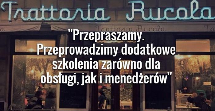 Oświadczenie właściciela restauracji
