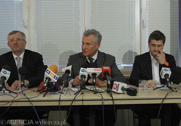 Marek Siwiec, Aleksander Kwaśniewski, Janusz Palikot