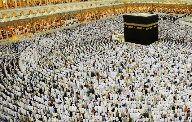 Arabia Saudyjska. Mekka - widoczna Kaaba / Shutterstock