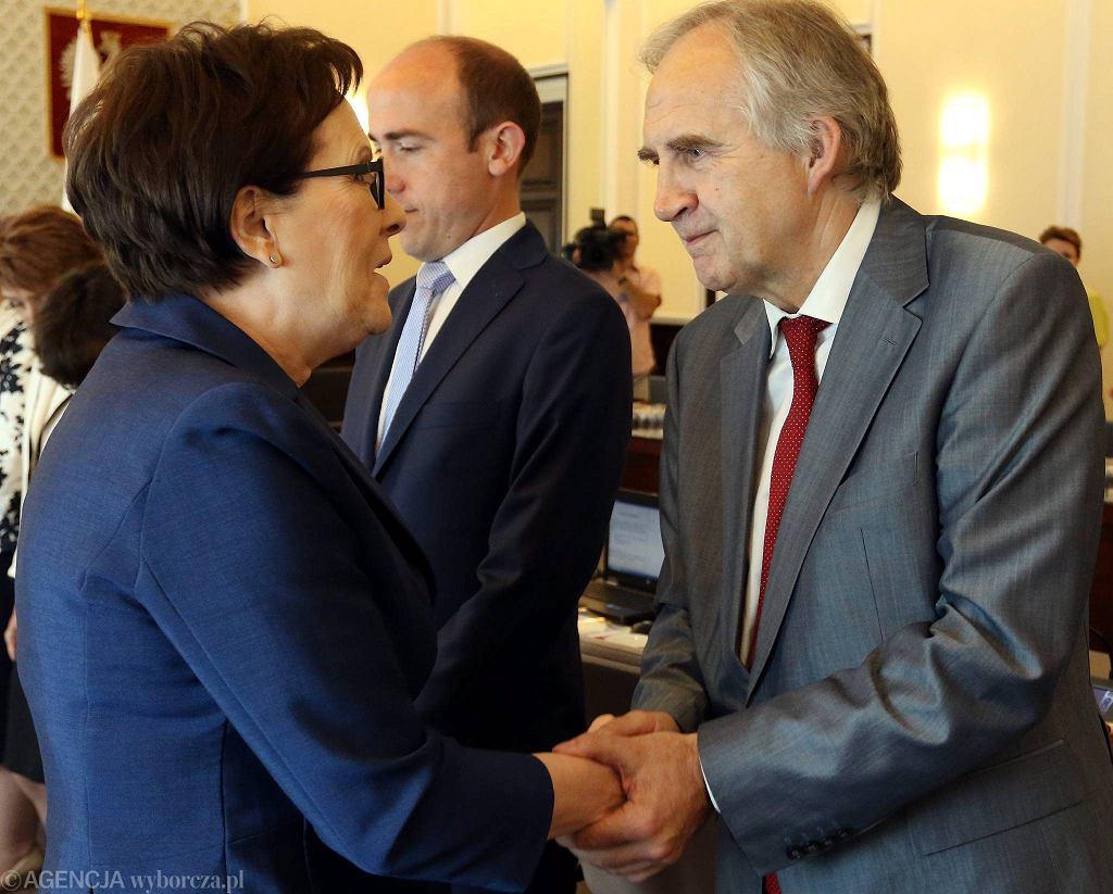 Minister zdrowia Marian Zembala z premier Ewą Kopacz