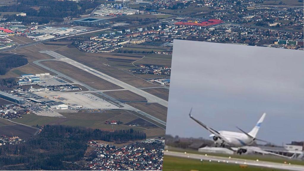 Nieudane lądowanie w Salzburgu
