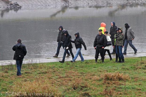 Wizja lokalna w zwi�zku z zagini�ciem Ewy Tylman w Poznaniu