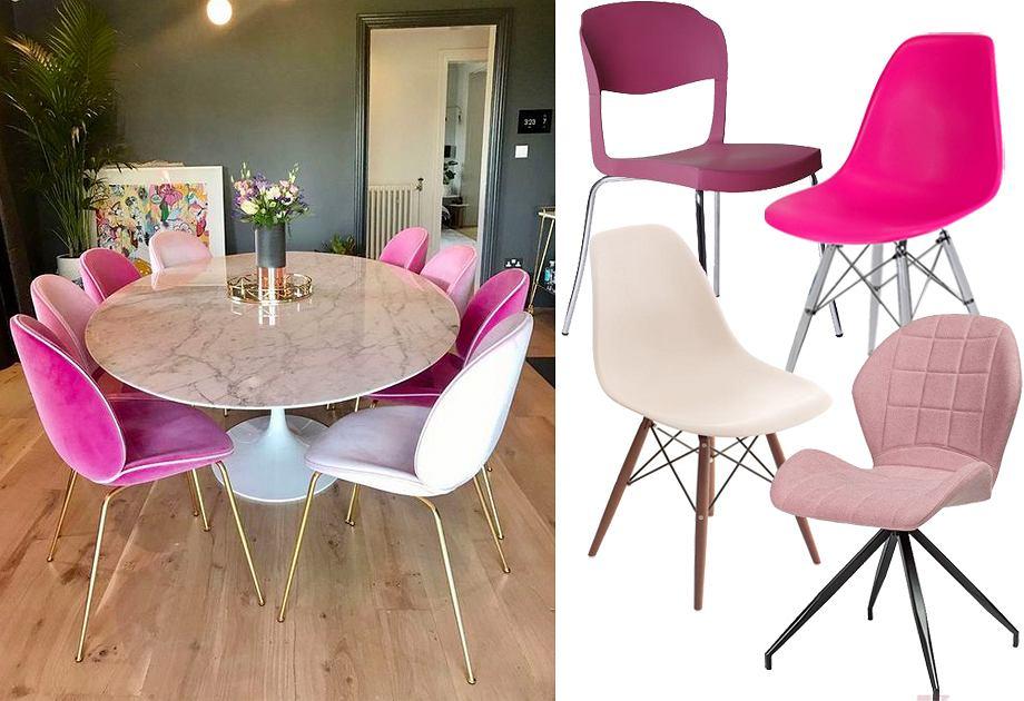 Kolorowe krzesła do jadalni