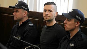 Radosław Warawko podczas rozprawy w kwietniu tego roku