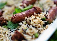 Chrupiące kiełbaski jagnięce z ryżem - ugotuj