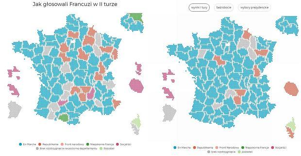 aaf8c763a Wyniki wyborów parlamentarnych we Francji. Jak głosowali Francuzi w  departamentach