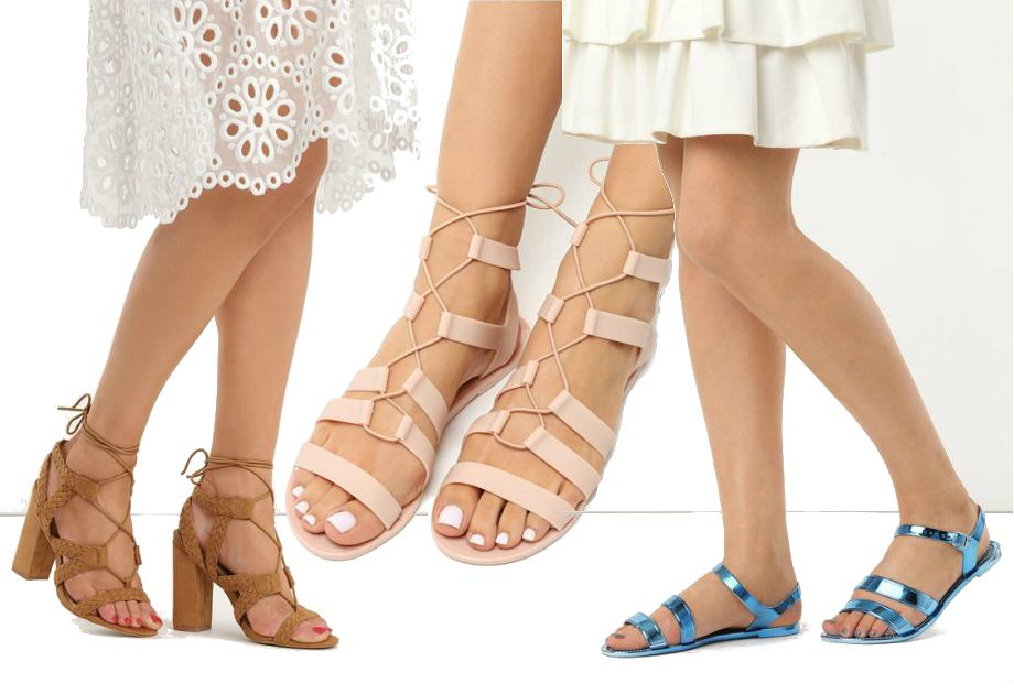 Sandały z wyprzedaży