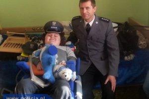 Policjanci spe�nili marzenie 10-letniego �ukasza