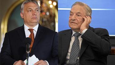 Premier Węgier Viktor Orban, obok finansista George Soros