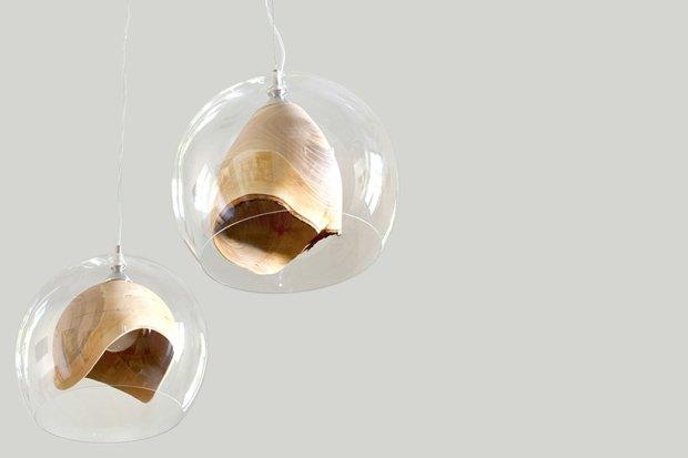Lampy Teca, proj. Slow Wood