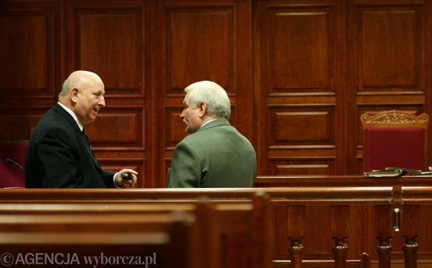 Lech Wałęsa i Józef Oleksy w 2007 roku