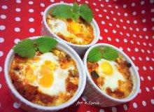 Leczo zapiekane z jajkiem - ugotuj