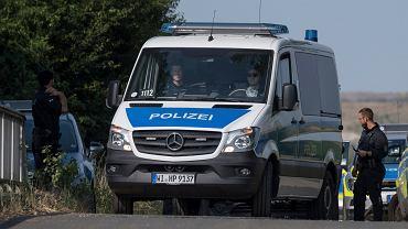 Niemiecka policja. Zdjęcie ilustracyjne