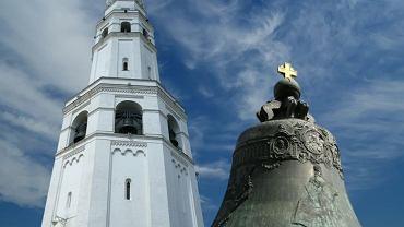 Kreml Moskwa - car-dzwon przy Placu Iwana Wielkiego
