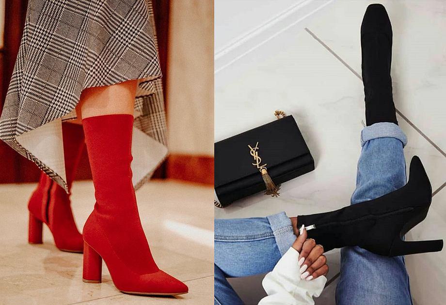 62f723d33a858 Botki skarpetkowe - modne buty jesienne. Do czego pasują botki z ...