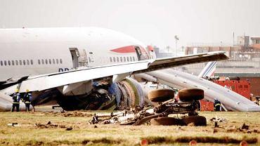 Szczęśliwe-nieszczęśliwie lądowanie Boeinga 777.
