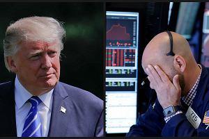 Przecena na rynkach po działaniach Donalda Trumpa