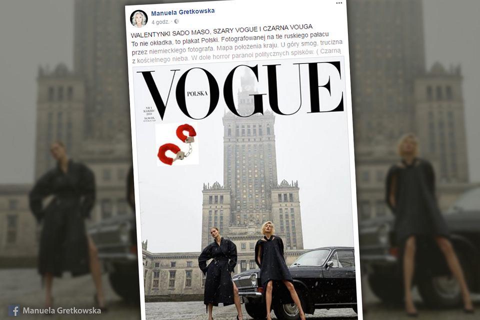 Manuela Gretkowska postanowiła wypowiedzieć się na temat okładki pierwszej polskiej edycji 'vogue'a'