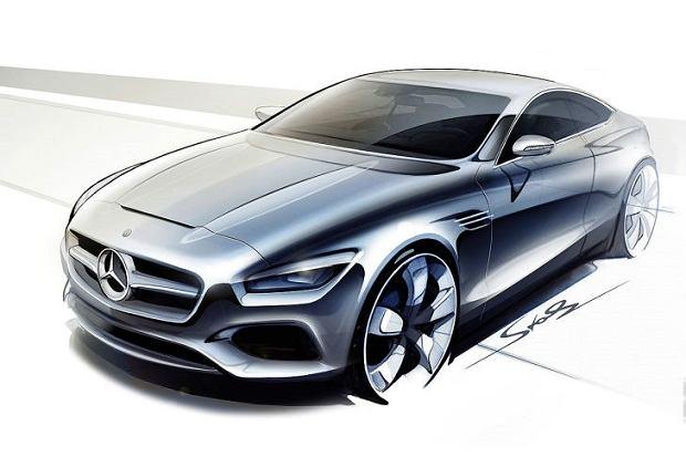 Pierwsze szkice   Mercedes S klasa coupe