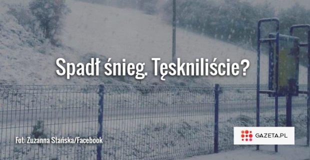 Spad� �nieg! T�sknili�cie? Cz�� Polski rano obudzi�a si� w zimie. I wrzuca zdj�cia na Twittera