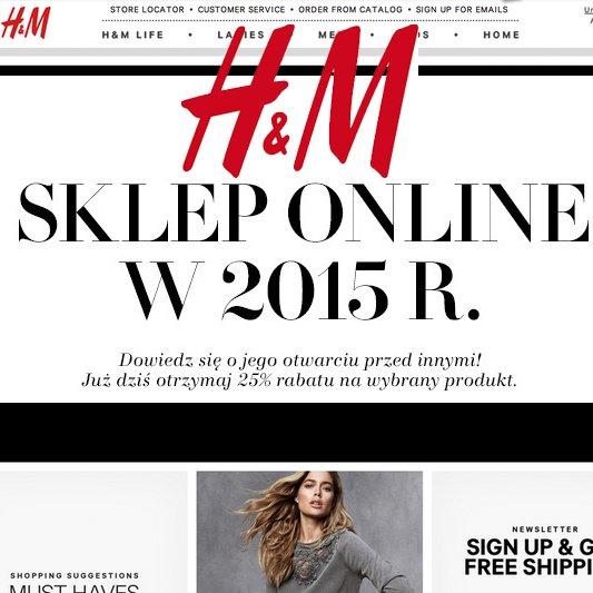 B�dzie internetowy sklep H&M w Polsce!