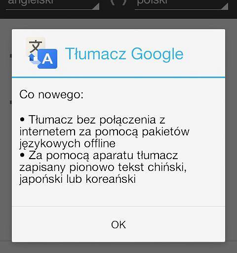 Aplikacja Tłumacz Google na Androida teraz działa także w trybie offline