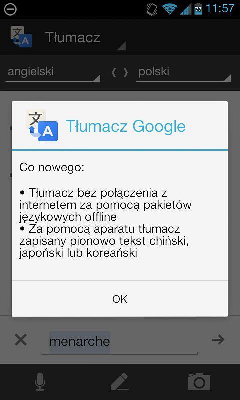 Aplikacja T�umacz Google na Androida teraz dzia�a tak�e w trybie offline