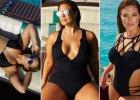 Ashley Graham, modelka plus size, zaprojektowała kostiumy kąpielowe dla kobiet o pełniejszych kształtach!