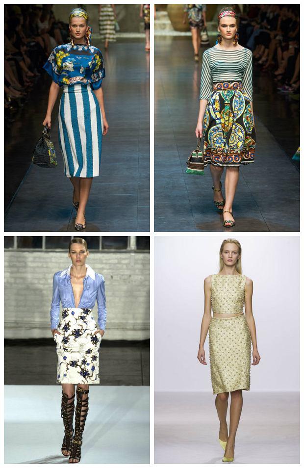 Spódnice midi w kolekcjach projektantów