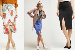 Spódnice z rozporkiem z przodu w 3 modnych stylizacjach