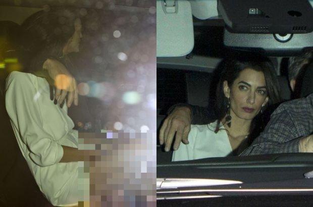 """Amal Clooney z m�em na podw�jnej randce. """"Zachwyci�a nogami w kr�tkiej bia�ej sukni"""""""