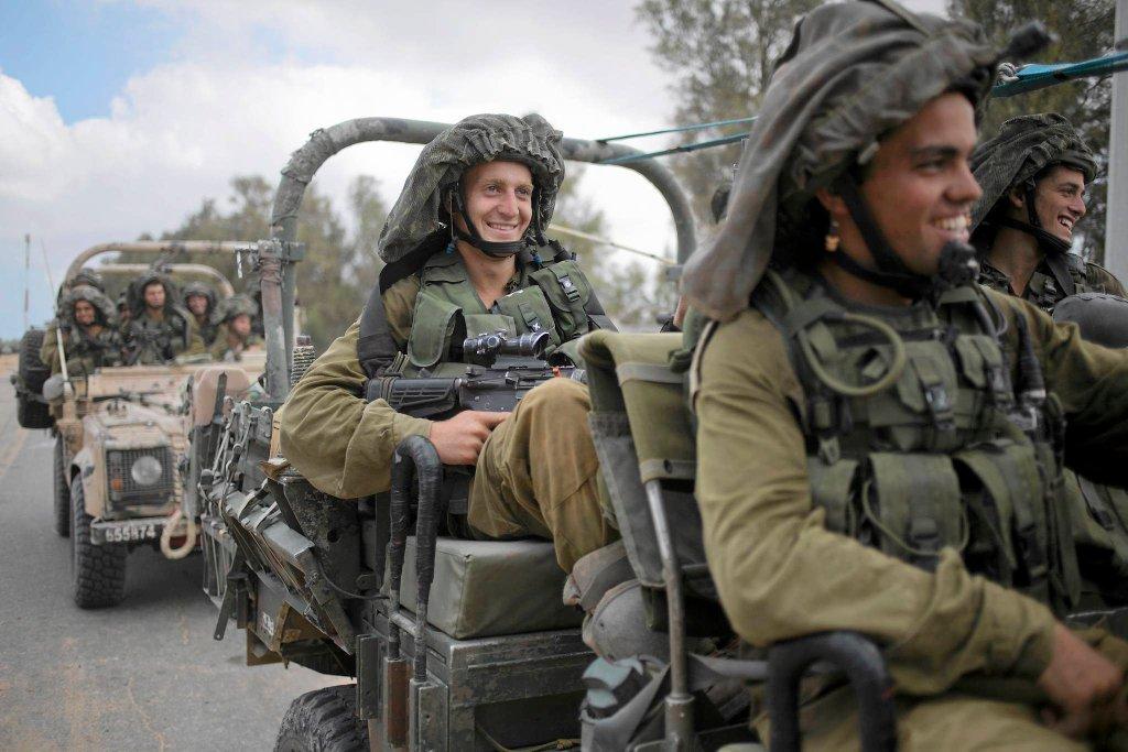 Izraelscy żołnierze w pobliżu Strefy Gazy