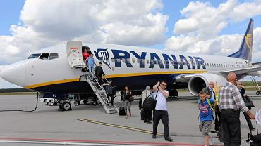Lotnisko Modlin - samolot linii Ryanair