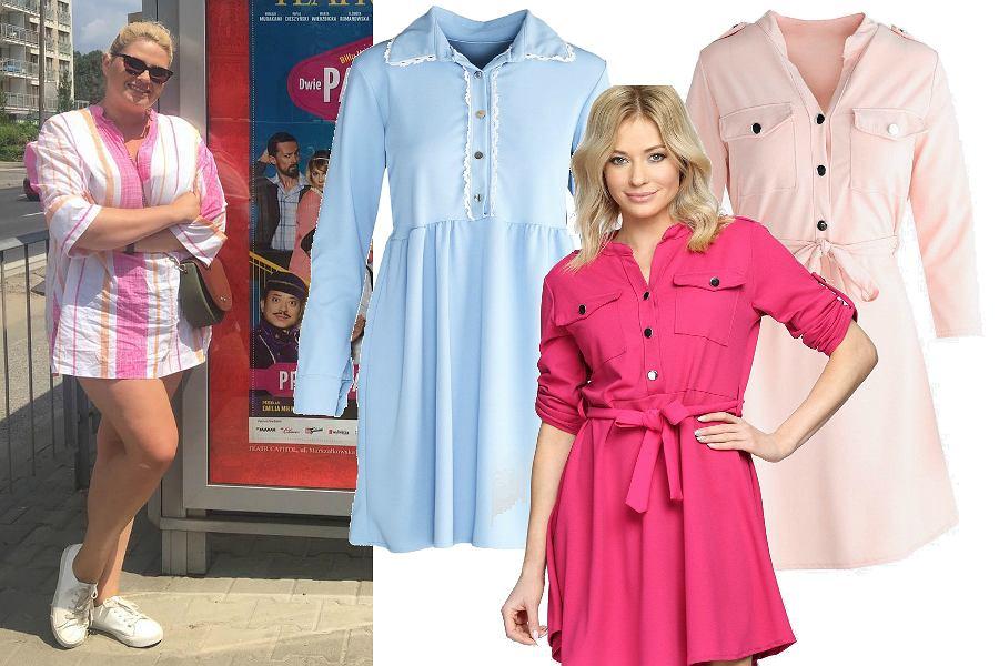 8f9769317f Sukienki plus size na lato - koszulowe