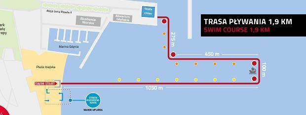 Trasa pływacka Herbalife Ironman 70.3 Gdynia