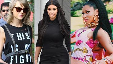 Taylor Swift, Kim Kardashian, Nicki Minaj