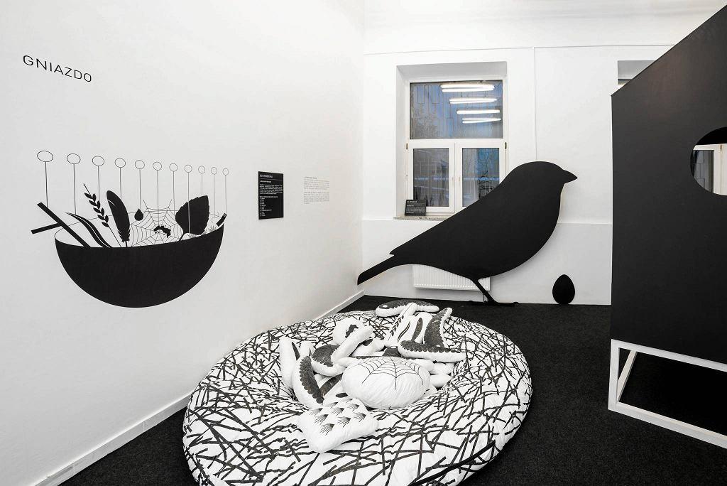 / Fragment wystawy 'Miasto i las', która łączy projektowanie z ochroną środowiska