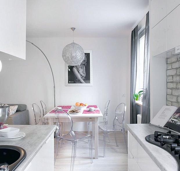 Jak optycznie powiększyć małe mieszkanie? Sprawdzone sposoby -> Otwarta Kuchnia Male Mieszkanie