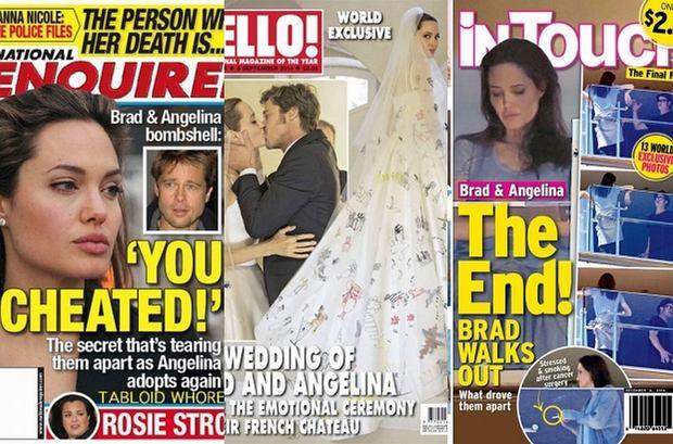 Zdjęcie numer 0 w galerii - Angelina Jolie i Brad Pitt rozwodzą się. Wiemy to dzięki tabloidom. Ale nie tylko to. Ich okładki to