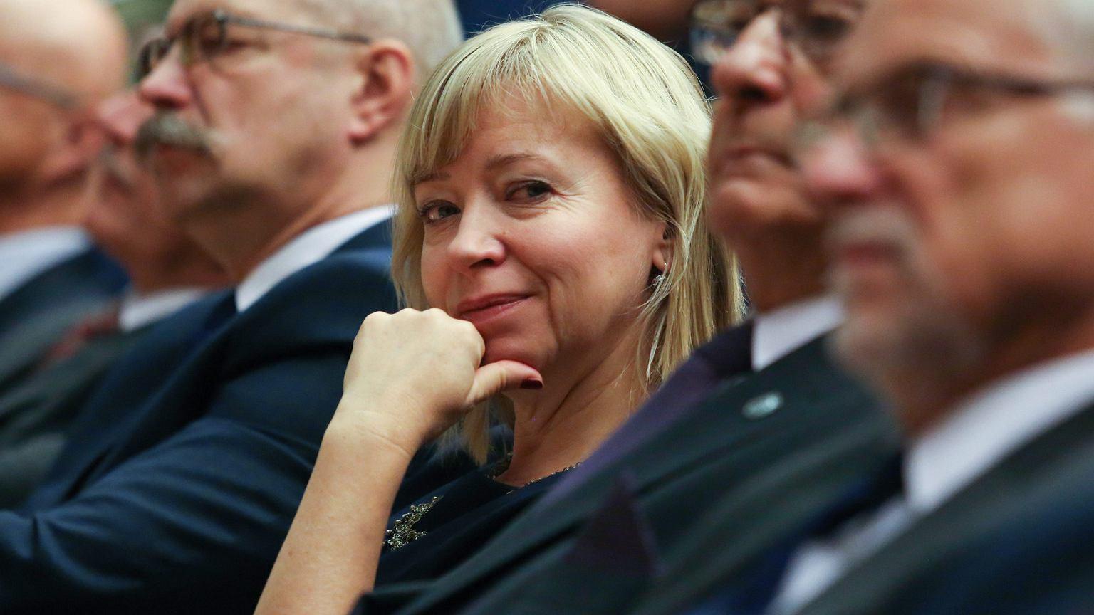 Dorota Segda podczas inauguracji roku akademickiego UJ, październik 2017 r.