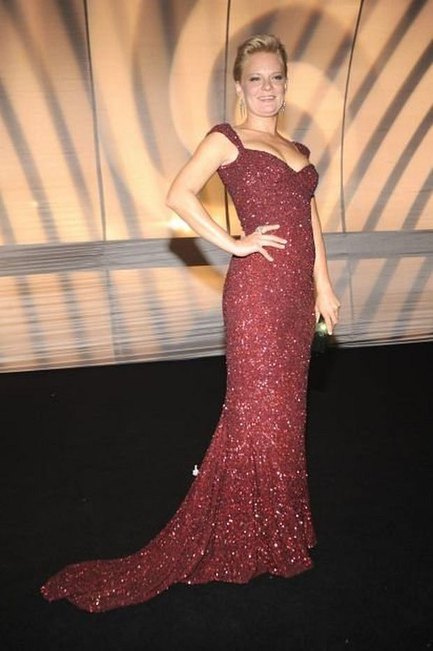 Martha Plimpton arrives at the 63rd Primetime Emmy Awards Governors Ball on Sunday, Sept. 18, 2011 in Los Angeles. (AP Photo/Chris Pizzello)