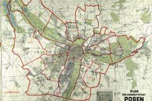 Tak Niemcy podzielili Pozna� na 17 dzielnic [INTERAKTYWNY PLAN]