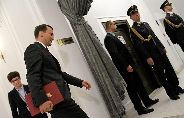 Konferencja marszałka Radosława Sikorskiego