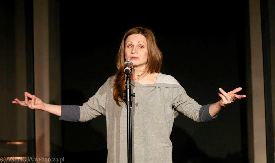 Anna Sroka-Hryń podczas próby spektaklu 'Lady Day w Emerson Bar & Grill'