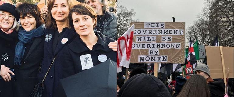 Maja Ostaszewska i Karolina Korwin Piotrowska bronią praw kobiet pod Sejmem. Inne gwiazdy też wspierają Czarny Piątek