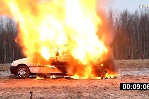 Samochód z LPG - próba ogniowa