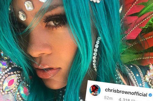 Chris Brown skomentował bardzo seksowne zdjęcie Rihanny w niezwykle kusym stroju tancerki samby. Natychmiast zalała go fala krytyki ze strony fanów Barbadoski.