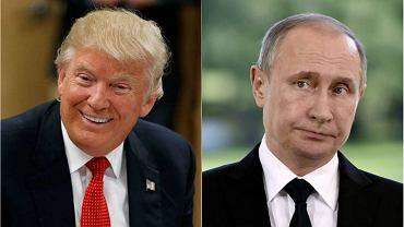 Donald Trump i Władimir Putin.