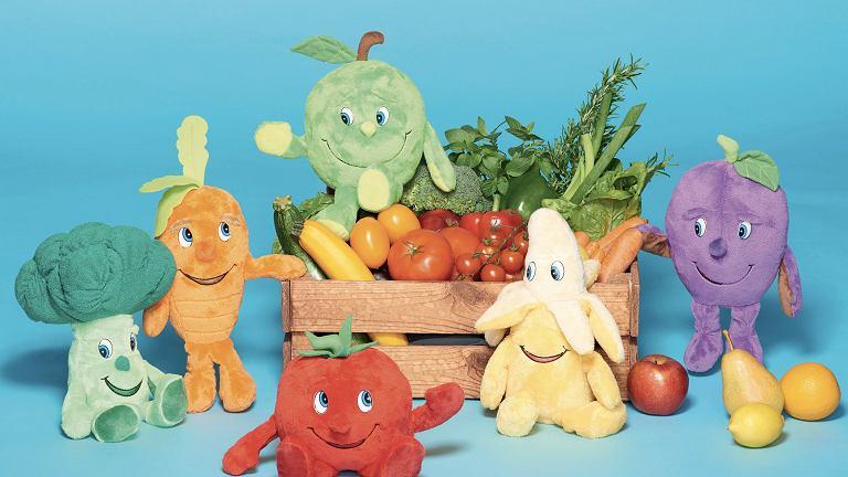 Lidlaki, czyli maskotki z Lidla, które mają zachęcać najmłodszych do sięgania po owoce i warzywa.
