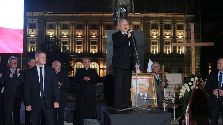 Miesięcznica smoleńska. Jarosław Kaczyński